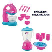 Kit Cozinha Infantil - Batedeira e Liquidificador Com Acessórios Le Chef - Usual Brinquedos -