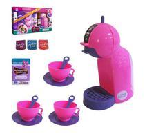 Kit cozinha infantil cafeteira expresso show cook house + acessórios - Zuca Toys