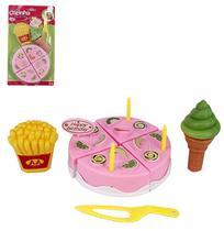 Kit cozinha infantil com bolo e acessorios colors minha cozinha dos sonhos 8 pecas na cartela wellkids - wb5794 - Wellmix
