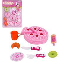 Kit Cozinha Infantil com Bolo e Acessorios Minha Cozinha Dos Sonhos 13 Pecas na Cartela Wellkids - Wellmix