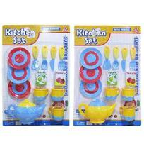 Kit Cozinha Infantil Com Bule E Acessorios Kitchen Set 14 Pecas - 20 Comercial
