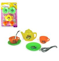 Kit Cozinha Infantil Com Bule E Acessorios Mini Cozinheira 8 Pecas Na Cartela Wellkids - Wellmix