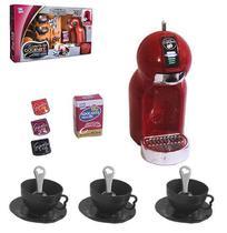 Kit cozinha infantil com cafeteira infantil e acessorios 14 pecas na caixa chef kids espresso gourmet - Zuca Toys