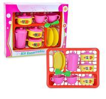 Kit Cozinha Infantil com Escorredor + Panela e Vários Acessórios - Diverplast
