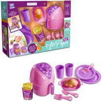 Kit cozinha infantil com fritadeira + batata frita e acessorios air fryer happy 12 pecas - Zuca Toys