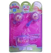 Kit Cozinha Infantil Com Panela De Pressao E Acessorios 3 Pe - Sayuri -