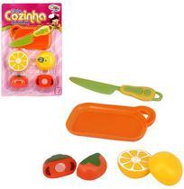 Kit Cozinha Infantil com Tabua e Acessorios Minha Cozinha Dos Sonhos 6 Pecas na Cartela Wellkids - Wellmix