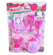 Kit cozinha infantil com taca e acessorios kitchen set 9 pecas na cartela - 20 Comercial