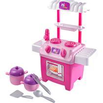Kit cozinha infantil completa com fogao mesa e torneira pia de lavar louca mini chef com acessorios de cozinhar meninas - Gimp