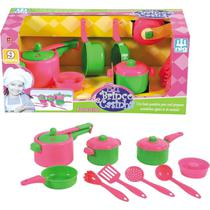 Kit Cozinha Infantil Paneleiro Panelinhas Menina - Nig -