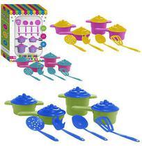 Kit cozinha infantil panelinhas magicas com talheres na caixa - Paramount