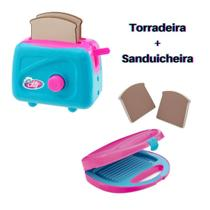 Kit Cozinha Infantil Torradeira e Sanduicheira Le Chef  Usual Brinquedos -