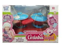 Kit cozinha legal com fogão e panelinhas - Zuca Toys