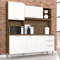 Kit Cozinha Livia Plus Movemax Malbec / Branco -