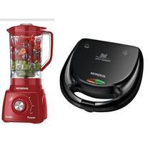 Kit Cozinha Mondial Premium Liquidificador + Sanduicheira 110v -