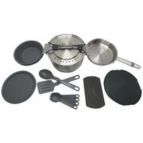 Kit Cozinha p/ Camping Prep & Cook 21 Pçs c/ Panela Prato Talher - Stanley -