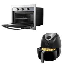 Kit Cozinha Philco - Forno Elétrico de Embutir 46L +  Fritadeira Elétrica Saúde Inox 3,2L - 110V -