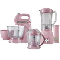 Kit Cozinha Rosa Liquidificador + Batedeira + Espremedor 110v - Britania