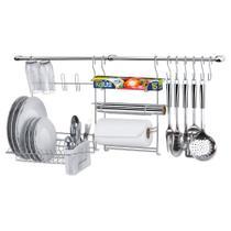 Kit Cozinha Suspensa Cook Home 9 Com Porta Rolos Escorredor - Arthi