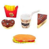 Kit Cozinheiro Fast Food Lanche Fritas Infantil de Brinquedo - Ark Toys