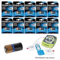 KIT CR123 3V Lithium DURACELL / 10 Baterias -