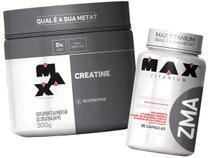 Kit Creatina 300g + Zma 90 Caps - Max Titanium -