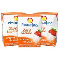 Kit Creme De Leite Piracanjuba Zero Lactose 3x200g -