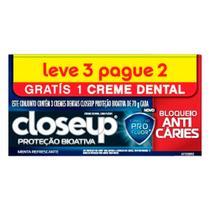 Kit Creme Dental Close Up Bloqueio Anticáries 70g 3 Unidades - Close-up