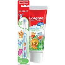 Kit Creme + Escova Dental Colgate My First Sem Flúor 50g -