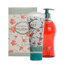 "Kit Creme Hidratante 200gr + Sab.Liquido 510ml Bacio Dell""Amore Florence -"