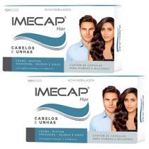 Kit crescimento de cabelo e unhas imecap hair 120 cápsulas 4 meses de tratamento - Divcom