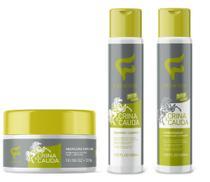 Kit crina e cauda completo 3 produtos shampoo - condicionador e máscara fashion -