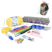Kit Crochê Premium 16 Agulhas Com Acessórios + Estojo - Levolpe