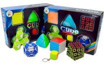 Kit Cubo Mágico 3x3x3 Skewb 2x2x2 Mastermorphix Snake Chavei - Faxin