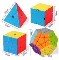 Kit Cubo Magico Moyu Pyraminx Megaminx Skewb Square1 -