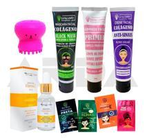 Kit Cuidado Facial Polvo + Sabonete + Sérum + Itens Skincare - Capim Limão