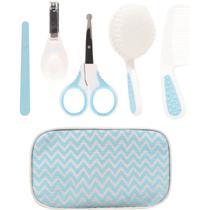 Kit Cuidados Baby Azul Com Estojo Buba -