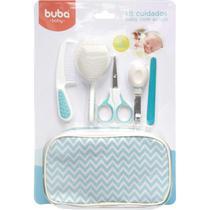 Kit Cuidados Baby Com Estojo Azul Da Buba Contem 9 Itens - Buba Baby