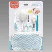 Kit Cuidados Baby Com Estojo Portátil Marca Buba Cor Azul + Brinde -