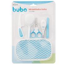 Kit Cuidados E Higiene Do Bebê 9 Peças Com Estojo Azul Buba -