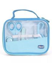Kit Cuidados E Higiene Do Bebê Manicure Completa Chicco Azul -