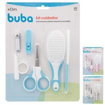 Kit Cuidados Higiene do Bebê Cortador Tesoura Escova Pente Buba -