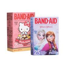 Kit Curativos Band-Aid Frozen + Hello Kitty com 50 unidades -