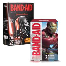 Kit Curativos Band-Aid Vingadores + Star Wars 50 unidades -