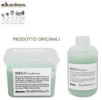 Kit Davines Melu - Shampoo 250ml e condicionador anti-quebra 250ml -