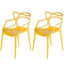 Kit de 2 Cadeiras Allegra de Polipropileno Amarela - 173 DPP - INOVAKASA