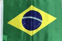 Kit de 20 Bandeiras Do Brasil NH 65x92cm DUPLA FACE com Encaixe P/ Bastão -