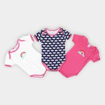Kit de 3 Bodies Infantis Candy Kids -