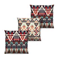 Kit de 3 Capas de Almofada para Decorar Sofá 40cm x 40cm com Zíper Estampa Mandala - Virô Presentes