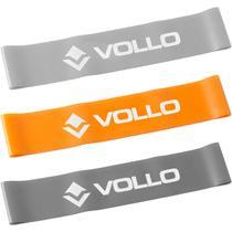 Kit de 3 Faixas Elásticas Circulares Mini Bands - VOLLO VP1007 -